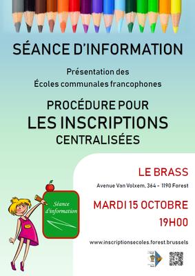 Inscription dans les écoles communales francophones forestoises 2019 2020
