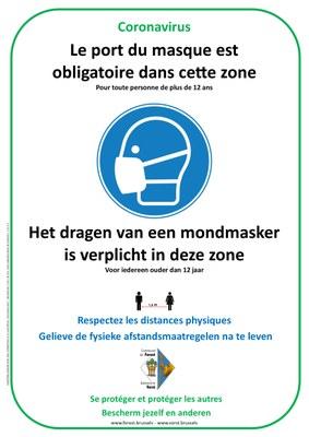 Zone masque obligatoire FR NL 24 07 20